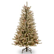 Dunhill Fir Slim 4.5' Hinged Artificial Christmas Tree with 350 Clear Lights