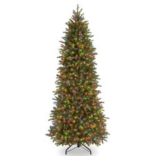 Jersey Fraser Fir 7.5' Green Artificial Christmas Tree with 650 Colored Lights and Stand