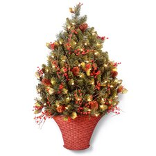 Classical 3' Half Artificial Christmas Tree with 100 Clear Lights
