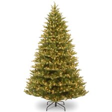 Normandy Fir 7.5' Green Artificial Christmas Tree with 1000 Pre-Lit Clear Lights with Stand