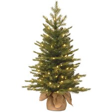 Nordic 3' Green Spruce Artificial Christmas Tree with 100 Clear Lights
