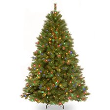 Winchester Pine 7.5' Green Artificial Christmas Tree with 500 Multi Colored Lights and Stand