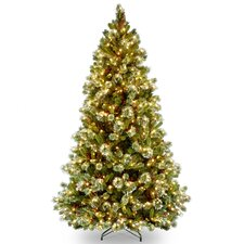 "Wintry Pine Pre-lit 7"" Pine Artificial Christmas Tree with 650 Clear Lights and Stand"