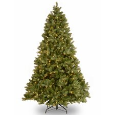 "Downswept Douglas 6.5"" Green Fir Artificial Christmas Tree with 650 Clear Lights and Stand"