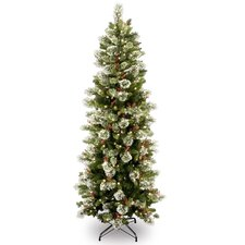 Wintry Pine 7.5' Slim Artificial Christmas Tree with 400 Clear Lights