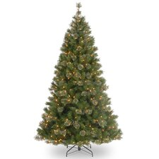 Atlanta Spruce 7.5' Green Artificial Christmas Tree with 550 Pre-Lit Clear Lights with Stand
