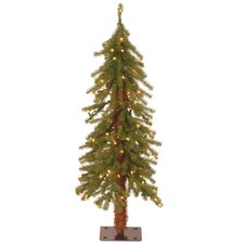 Hickory Cedar 3' Green Artificial Christmas Tree with 50 Clear Lights