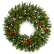 """24"""" Frosted Berry Wreath"""