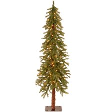 Hickory Cedar 5' Green Artificial Christmas Tree with 150 Clear Lights