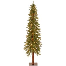 Hickory Cedar 6' Green Artificial Christmas Tree with 150 Clear Lights