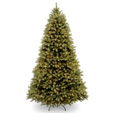 Downswept Douglas 6' Green Fir Artificial Christmas Tree with 600 Clear Lights and Stand