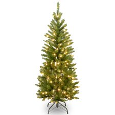 "Kingswood 4.5"" Pencil Fir Artificial Christmas Tree with Clear Lights"