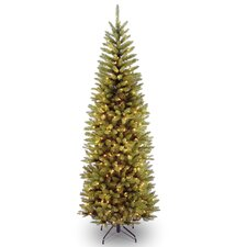 6.5' Kingswood Fir Pencil Artificial Christmas Tree with 250 Clear Lights