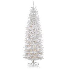 Kingswood Fir 7' White Artificial Christmas Tree with 300 Clear Lights