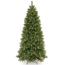 Lehigh Valley Pine 7.5' Green Artificial Christmas Tree with 500 Colored & Clear Lights