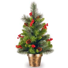 2' Crestwood Spruce Green Small Artificial Christmas Tree