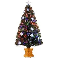"Fiber Optics 4"" Multi Firework Artificial Christmas Tree Multi Light and Stand"