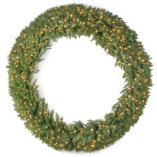 Tiffany Fir Lighted Wreath with 450 Clear Lights