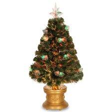 3' Fiber Optics Green Firework Artificial Christmas Tree with Multicolored Lights