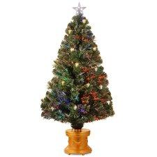 4' Fiber Optics Green Firework Artificial Christmas Tree with Multicolored Lights