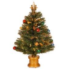 "Fiber Optics Fireworks 2"" 8"" Green Artificial Christmas Tree with Multicolor Light"