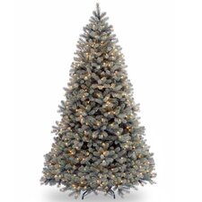"Downswept Douglas 7.5"" Blue Fir Artificial Christmas Tree with 750 Clear Lights and Stand"