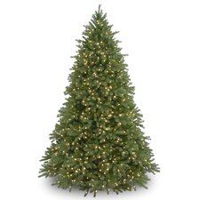 7.5' Green Artificial Christmas Tree with 1250 Clear Lights and Stand