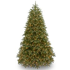 Jersey Fraser Fir 7.5' Green Fir Artificial Christmas Tree with 1000 Clear Lights and Stand