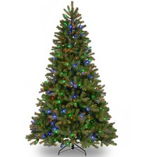 "Downswept Douglas 7.5"" Green Fir Artificial Christmas Tree with 750 LED Multi Lights and Stand"