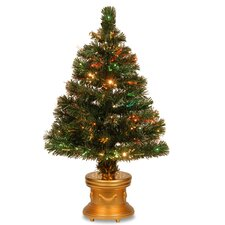 Fiber Optic Radiance Fireworks 3' Green Artificial Christmas Tree with Base