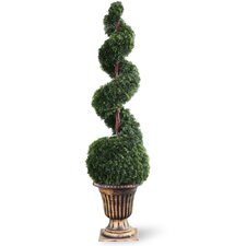 Cedar Spiral Tree with Ball in Urn