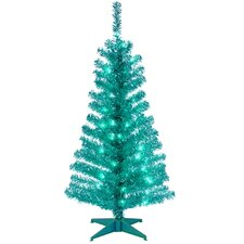 Tinsel Trees 4' Turquoise Artificial ChristmasTree with Plastic Stand