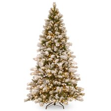7.5' Pine Artificial Christmas Tree with 650 Incandescent Clear Lights with Stand