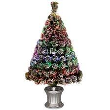 Fiber Optics 3' Artificial Christmas Tree LED with Base
