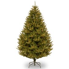 7.5' Green Cedar Artificial Christmas Tree with 600 Incandescent Colored and Clear Light with Stand