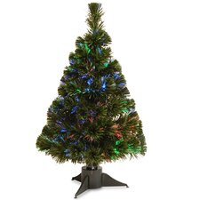 Fiber Optics 2' Green Artificial Christmas Tree LED with Stand