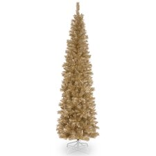 Tinsel Trees 6' Champagne Tree  Artificial Christmas Unlit with Stand
