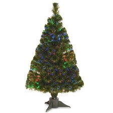 Fiber Optics 2.6' Green Artificial Christmas Tree LED with Stand