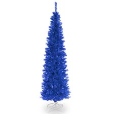 Tinsel Trees 6' Blue Tree  Artificial Christmas Unlit with Stand