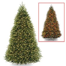 Dunhill 9' Green Fir Artificial Christmas Tree with LED 900 Colored and Multi Lights with Stand