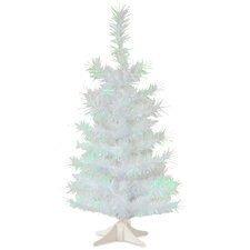 Tinsel Trees 2' White Artificial  Christmas Tree with Plastic Stand
