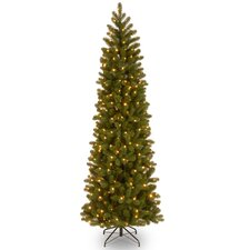 Downswept Douglas 7' Green Fir Artificial Christmas Tree with 500 Incandescent Colored and Clear Lights with Stand