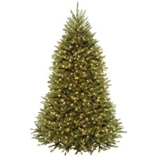 7.5' Dunhill Hinged Green Fir Artificial Christmas Tree with 700 Dual LED Lights