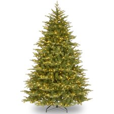 Nordic 7.5' Green Spruce Artificial Christmas Tree with Clear Lights