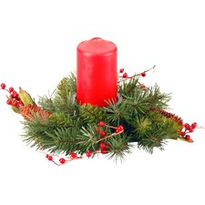 """Classical 12"""" Candle Holder Wreath"""