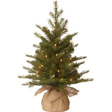 Nordic Pre-Lit Feel Real Spruce Small Tree