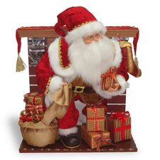 Plush Décor Plush Santa Sitting on Rocking Chair
