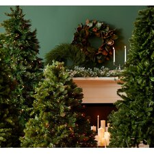 Tiffany Fir 7.5' Green Artificial Christmas Tree with 700 Pre-Lit Clear Lights with Stand