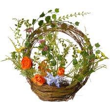 """15.7"""" Natural Fiber Basket Wreath"""