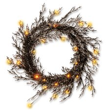 Halloween Wreath with Lights